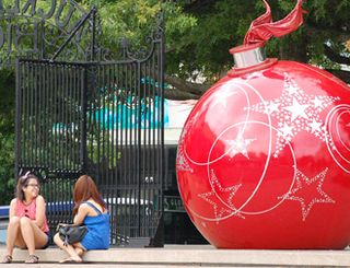 Two girls and red ball.jpeg