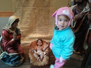 Isabel and baby Jesus